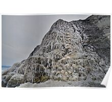 Dorset: Frozen Cliff at Charmouth Poster