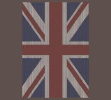 The Union Jack in words- Red, White and Blue. One Piece - Short Sleeve