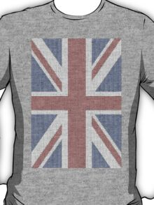 The Union Jack in words- Red, White and Blue. T-Shirt