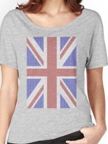The Union Jack in words- Red, White and Blue. Women's Relaxed Fit T-Shirt