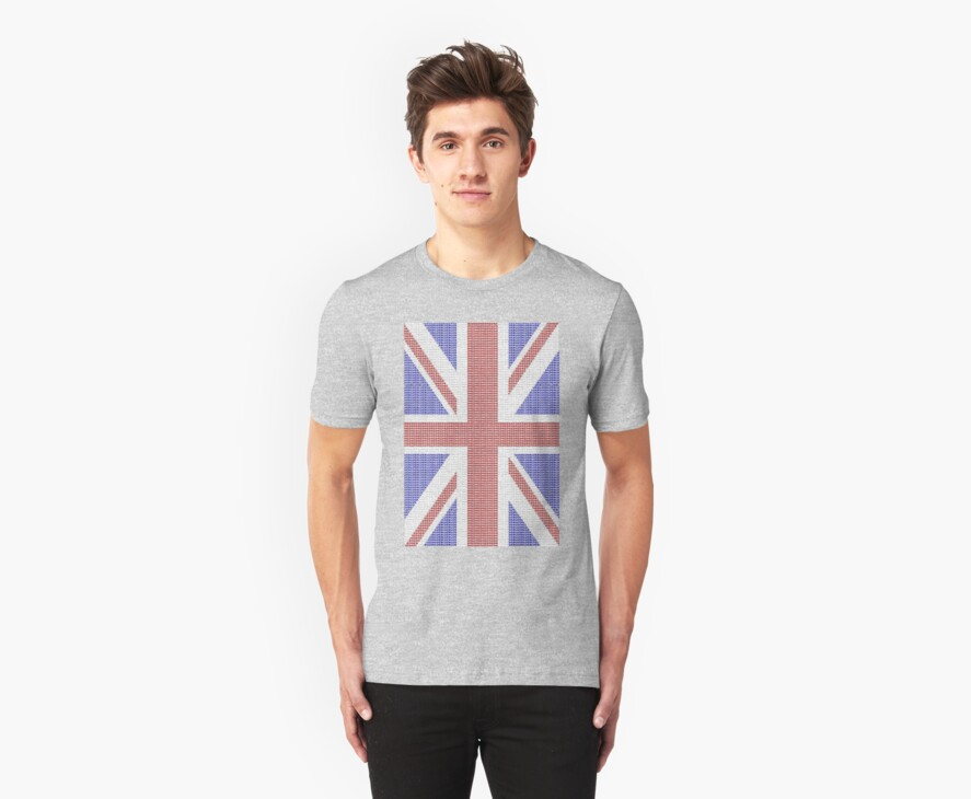 The Union Jack in words- Red, White and Blue. by sky-1ine
