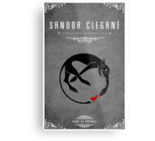 Sandor Clegane Personal Sigil Metal Print