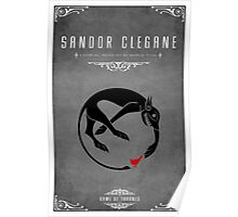 Sandor Clegane Personal Sigil Poster