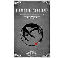 Sandor Clegane Personal Sigil Photographic Print