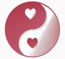 Hot Pink Valentine Yin-Yang by Lotacats