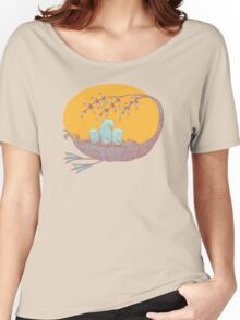 Sweet Dreams of the Owl Pups on their Night Journey Women's Relaxed Fit T-Shirt