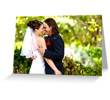 Kiss the Bride Greeting Card