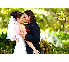 Kiss the Bride Photographic Print