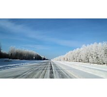 winter road Photographic Print