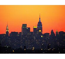 Superbowl City Sunset Photographic Print