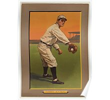 Benjamin K Edwards Collection Fred Tenney New York Giants baseball card portrait Poster