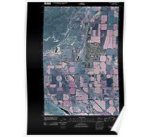 USGS Topo Map Washington State WA Othello 20110407 TM Inverted Poster