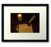 A Knock at the Door Framed Print