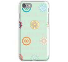 GIRL POWER FLOWER POWER iPhone Case/Skin