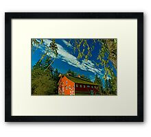 My Red Barn Framed Print