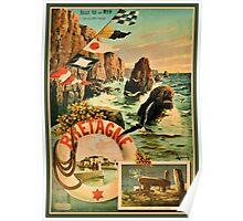 Bretagne Brittany Hugo d'Alesi 1895 French travel Poster