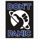Hitchhiker's Guide to the Galaxy - Don't Panic by Amy Huxtable