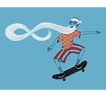 The Ancient Skater, Forever Skate ukiyo e style Photographic Print