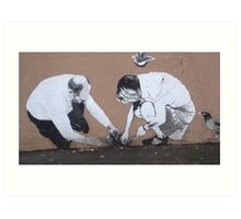 Planting Cabbages in Alberta Street Art Print