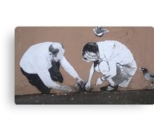 Planting Cabbages in Alberta Street Canvas Print