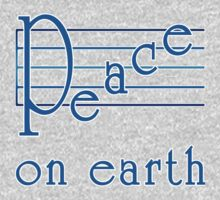 Musical Scale Peace on Earth  One Piece - Long Sleeve