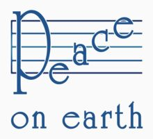 Musical Scale Peace on Earth  Baby Tee
