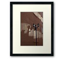 Alleyway Lamp Post Framed Print