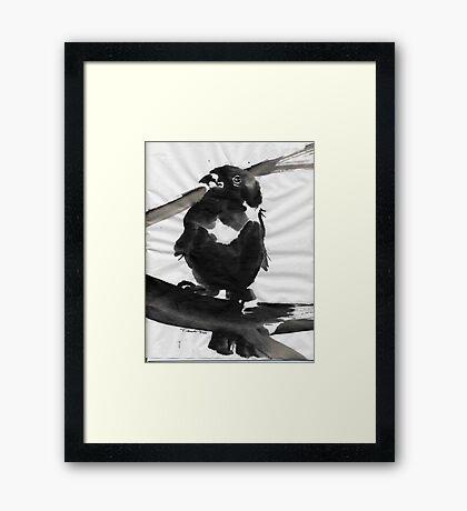 Sumi Bird Framed Print