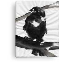 Sumi Bird Canvas Print