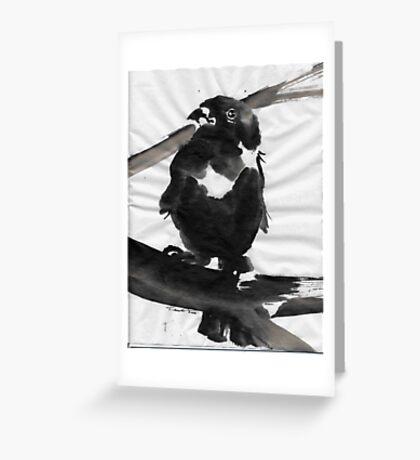 Sumi Bird Greeting Card