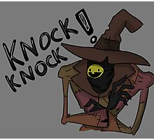 Knock Knock Trick or Treat Photographic Print
