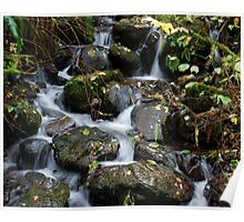 Stream over Rocks Poster