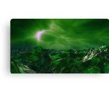 Green Storm Rising Canvas Print