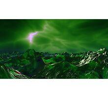 Green Storm Rising Photographic Print