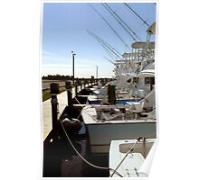 Boats in Oregon Inlet Poster