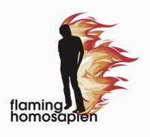 Flaming Homosapien by Cameron Simpson