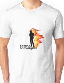 Flaming Homosapien Unisex T-Shirt