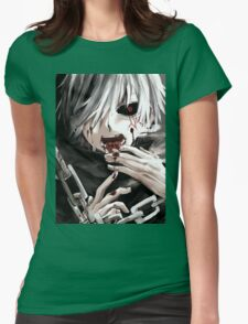 Kaneki The taste of Blood Womens Fitted T-Shirt