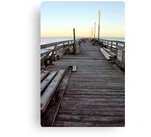 Pier Sunset Canvas Print