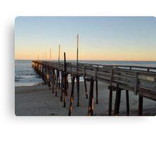 Rodanthe Pier at Sunset Canvas Print
