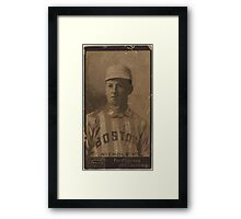 Benjamin K Edwards Collection Kid Nichols Boston Beaneaters baseball card portrait Framed Print