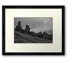 Erosion at Enchanted Rock Framed Print