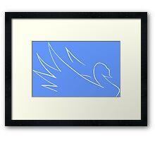 Minimalism Swan Framed Print
