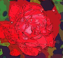 Red rose abstract by ♥⊱ B. Randi Bailey