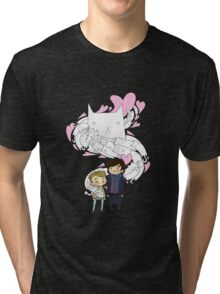Sherlock and John: Cat jumper Tri-blend T-Shirt