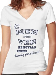 Peep Show – Men With Ven Women's Fitted V-Neck T-Shirt