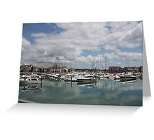 Quiet Marina Reflections Greeting Card