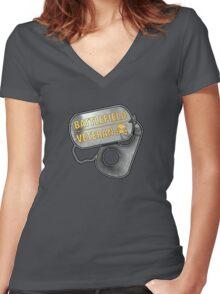 Battlefield Veteran Women's Fitted V-Neck T-Shirt