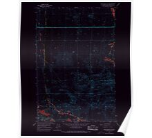 USGS Topo Map Washington State WA Winchester SW 244745 1966 24000 Inverted Poster