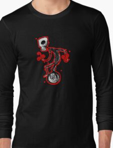 cyclops on a unicycle Long Sleeve T-Shirt